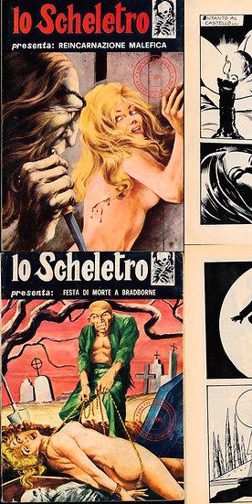 Lo Scheletro [The Skeleton] (2 vintage Italian adult comics, 1973, 1976)