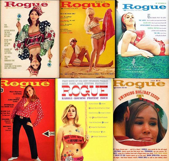 Rogue [Designed for Men] (6 vintage adult magazines bound together, 1966-67)