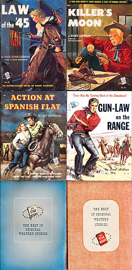 Star Books (4 vintage Western digest paperbacks)