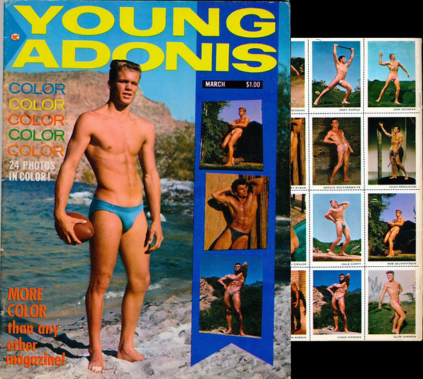 Young Adonis (Vintage adult magazine, first issue, 1963)
