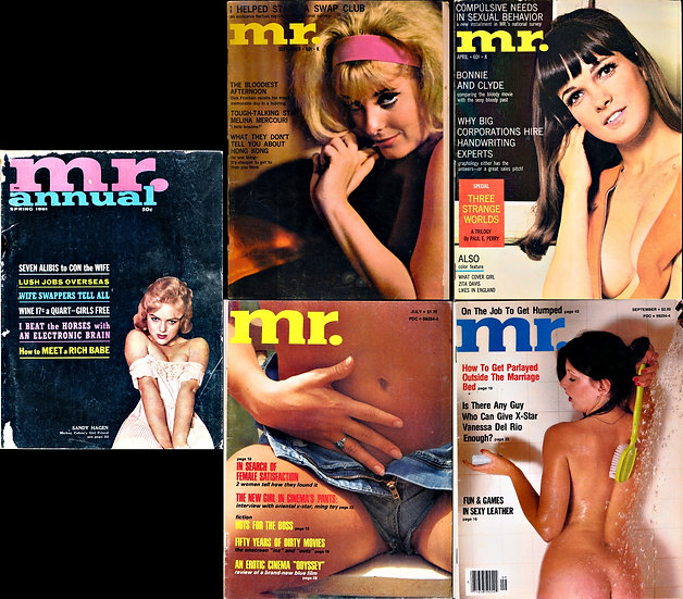 Mr. [Mr. Magazine] (5 vintage adult magazines, 1961-78)