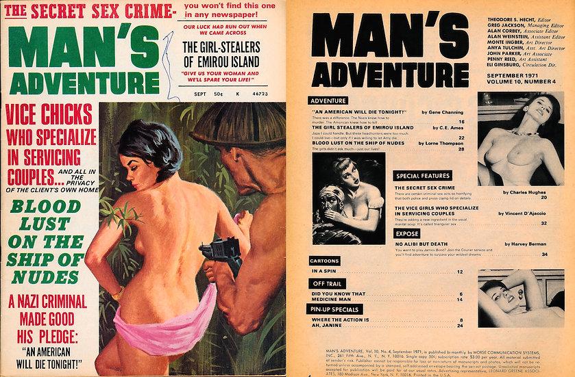 Man's Adventure (Vintage adult magazine, 1971)