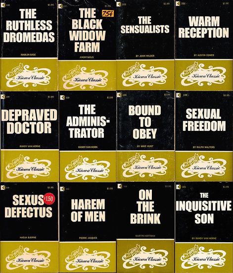 Kiowa Classic (12 vintage adult paperbacks, 1969)