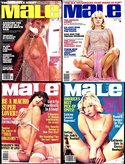 Male (4 vintage adult magazines, 1977, 80)