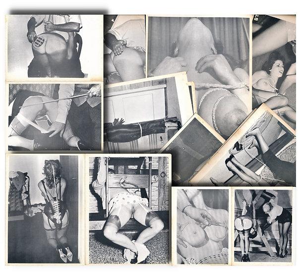 Flagellation, leather, breast fetish (107 original photographs, 1960s)