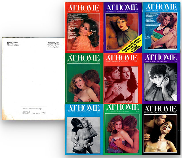 At Home [The Magazine of Sexual Fulfillment] (9 Vintage adult magazines, 1978-80