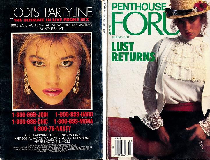 Forum [Penthouse Forum] (vintage adult digest magazine, Joanne Latham, Jan 1991)
