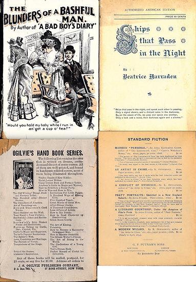 The Blunders of a Bashful Man / Ships that Pass... (2 romance paperbacks)