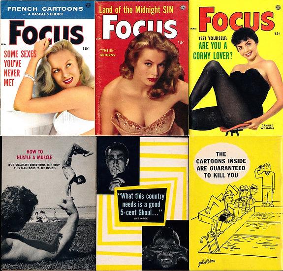 Focus (3 vintage pocket magazines, 1956)