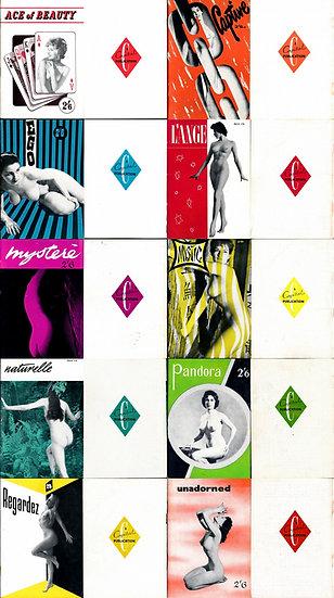 Capital Publications, Ltd. (10 vintage adult magazines, 1956-57)