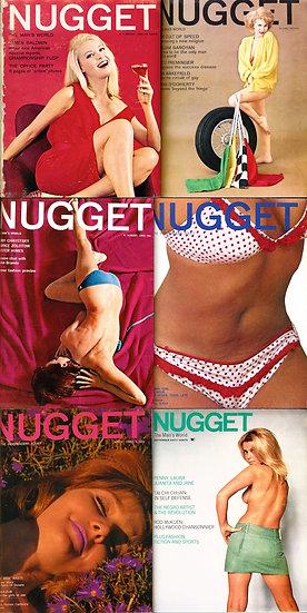 Nugget (7 vintage adult magazines bound together, 1963-68)
