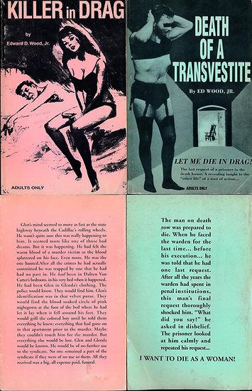 Killer in Drag, and Death of a Transvestite (2 vintage adult paperbacks)
