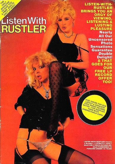 Listen with Rustler (Vintage British adult magazine, 1985)