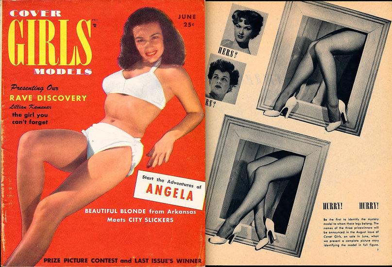 Cover Girls Models (Vintage pin-up magazine, 1950)