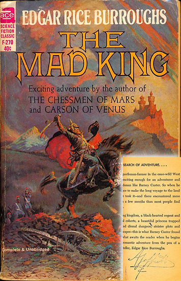 The Mad King (Vintage paperback, Offutt's copy, 1960s)