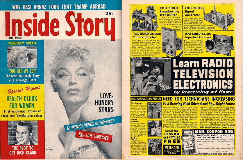 Inside Story (Vintage tabloid magazine, Lili St. Cyr cover, 1960)