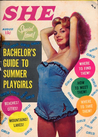 She (vintage pocket magazine, Aug 1956)
