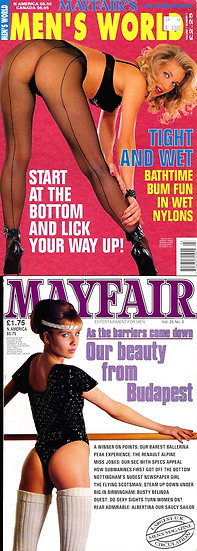 Mayfair (2 Vintage adult magazines, 1989, 1995)