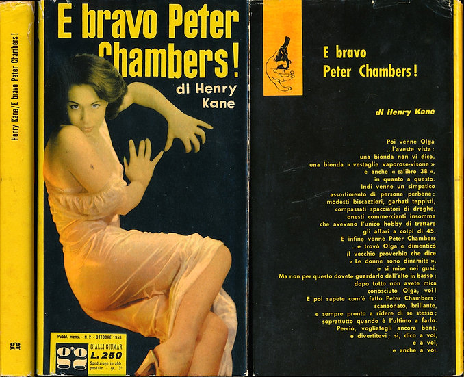 E bravo Peter Chambers! [My Business Is Murder] (Italian hardcover, 1958)