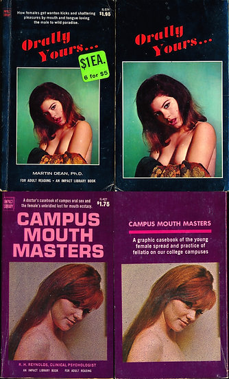 Orally Yours... / Campus Mouth Masters (2 adult paperbacks, Candy Earle covers)