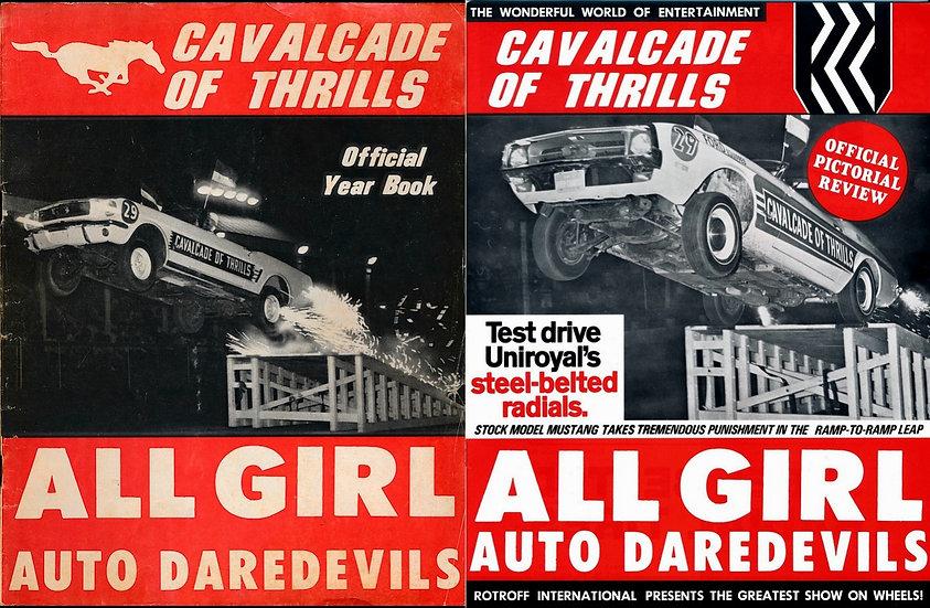 Cavalcade of Thrills (Vintage demolition derby magazines, 1967, 1973)