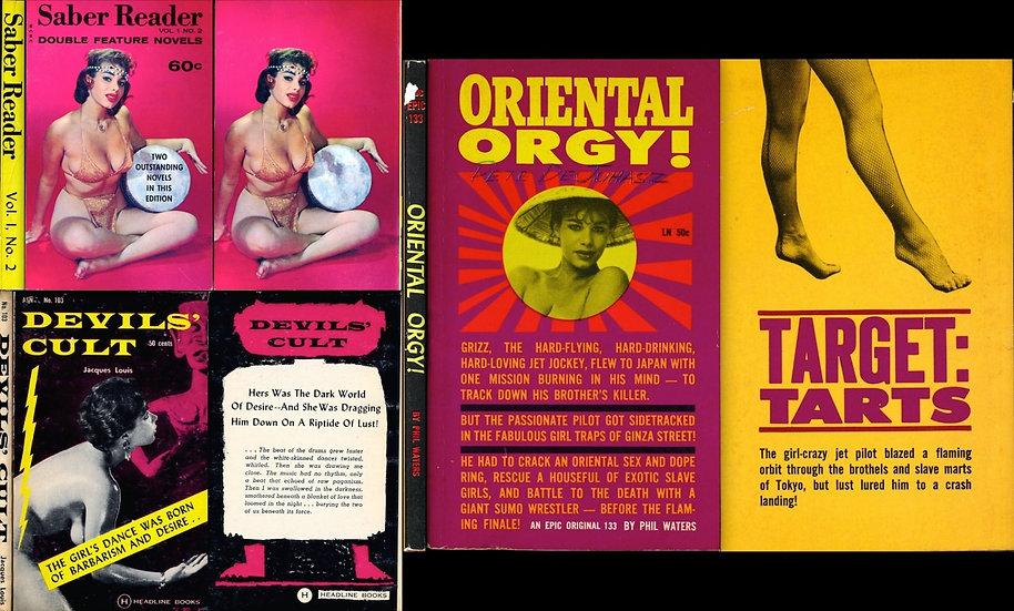 Sandy lane, cover model (3 vintage adult paperbacks, 1960, 1962)