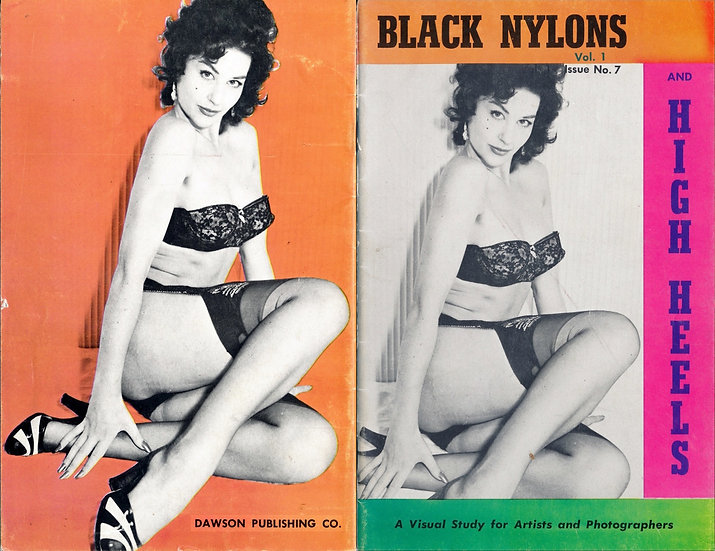 Black Nylons and High Heels (vintage pinup digest magazine, Lee Southern, 1950s)