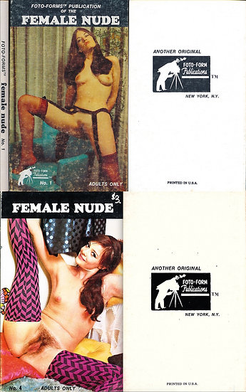 Foto-Form Publications (2 vintage adult paperbacks, 1969)