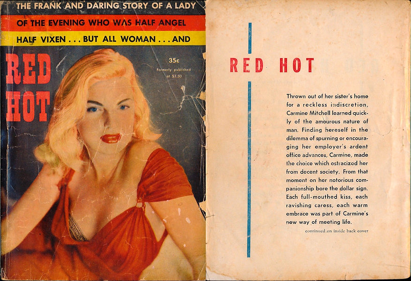 Red Hot (Vintage Paperback, Barbara Nichols cover model)