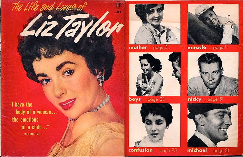 The Life and Loves of Liz Taylor (Vintage celebrity magazine, 1952)