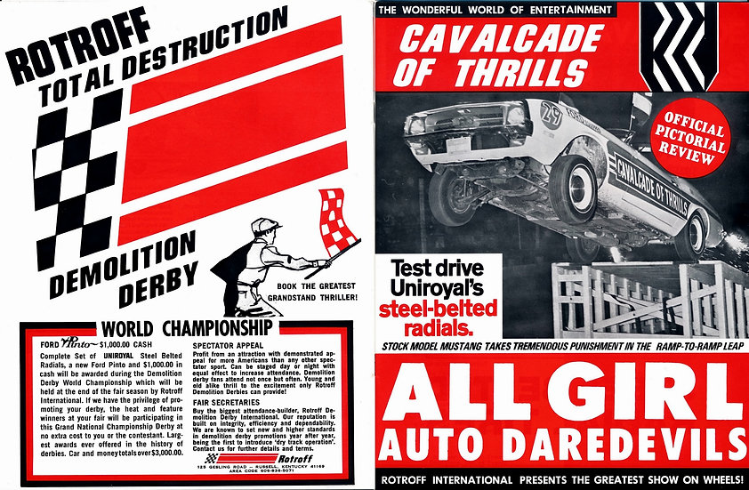 Cavalcade of Thrills, Official Pictorial Review (Vintage demolition derby magazi