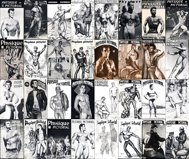 Physique Pictorial (61 vintage adult magazines, 1955-82)