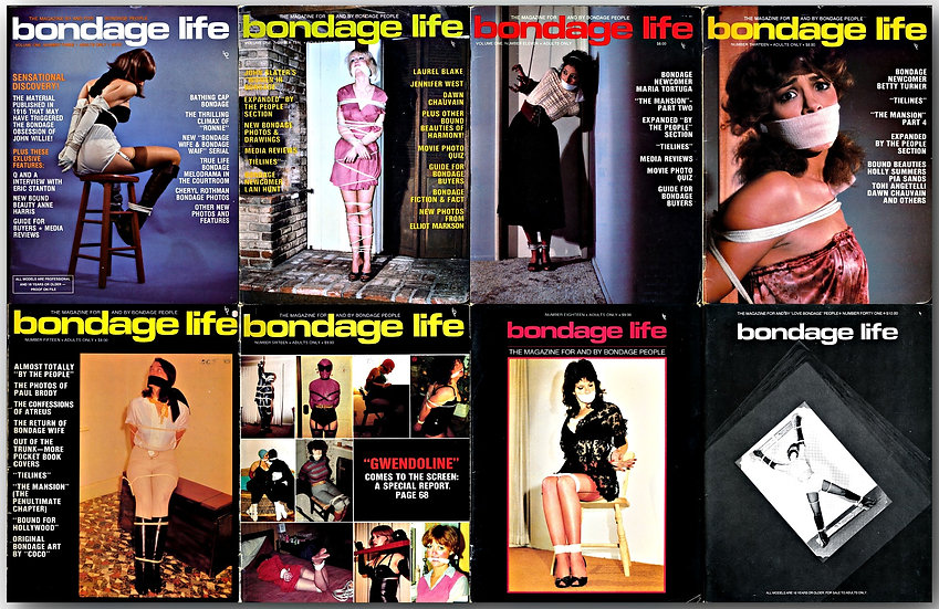Bondage Life (8 Vintage Magazines, 1978-90)