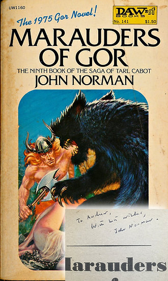 Marauders of Gor (First Edition, Offutt's copy, signed by Norman, 1975)