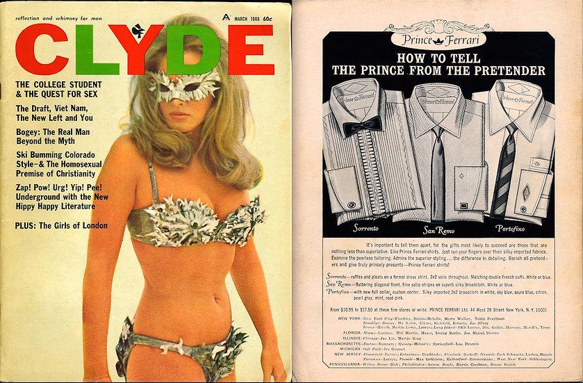 Clyde (Vintage adult magazine, Mar 1966)