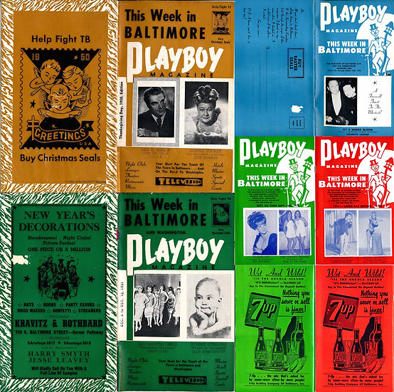 Playboy Magazine (17 Vintage digest magazines, Baltimore nightlife, 1950-72)