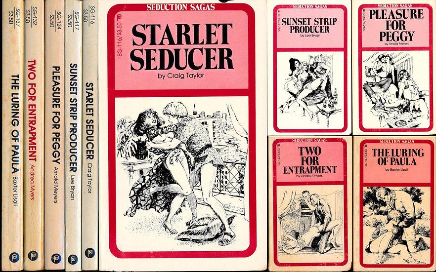 Seduction Sagas (5 vintage adult paperbacks, 1982-83)