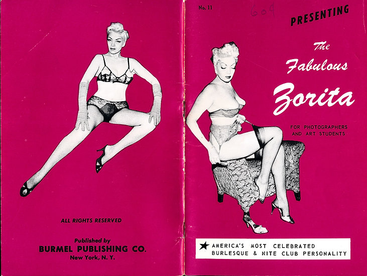 Presenting: The Fabulous Zorita (vintage adult pinup digest magazine, 1950s)