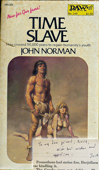 Time Slave (First Edition, Offutt's copy, signed by Norman, 1975)