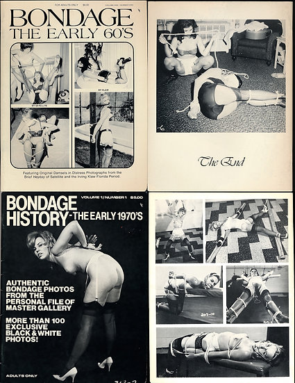 Bondage History: The Early 60's, and The Early 1970s (2 vintage adult magazines)