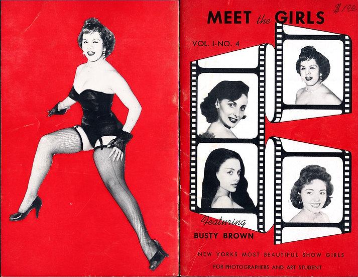 Meet the Girls (vintage adult pinup digest magazine, 1950s)