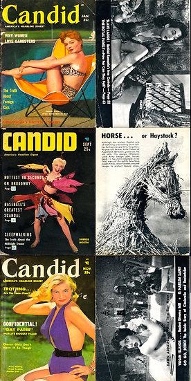 Candid (3 vintage digest magazines, 1953-54)