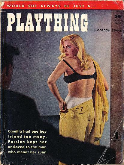 Plaything (Vintage Paperback, Barbara Nichols cover model)