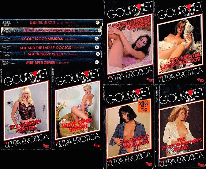 Gourmet Editions: Ultra Erotica (6 adult paperbacks, 1982-83)