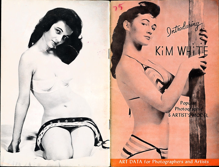 Introducing: Kim White (vintage pinup digest magazine, 1957)