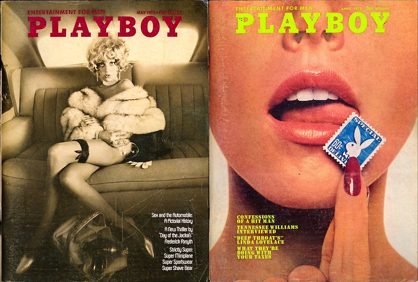 Playboy (2 vintage adult magazines, Apr-May 1973)