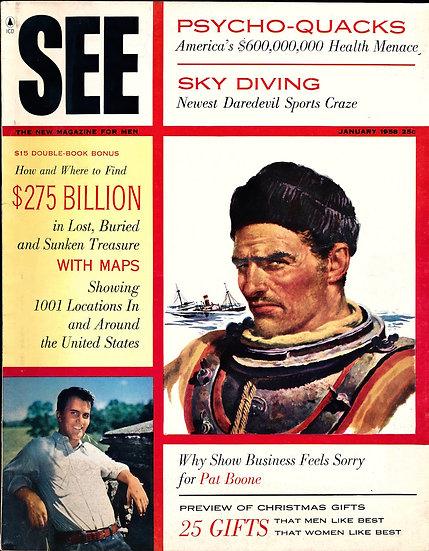 See [The New Magazine for Men] (Vintage adventure magazine, Jan 1958)
