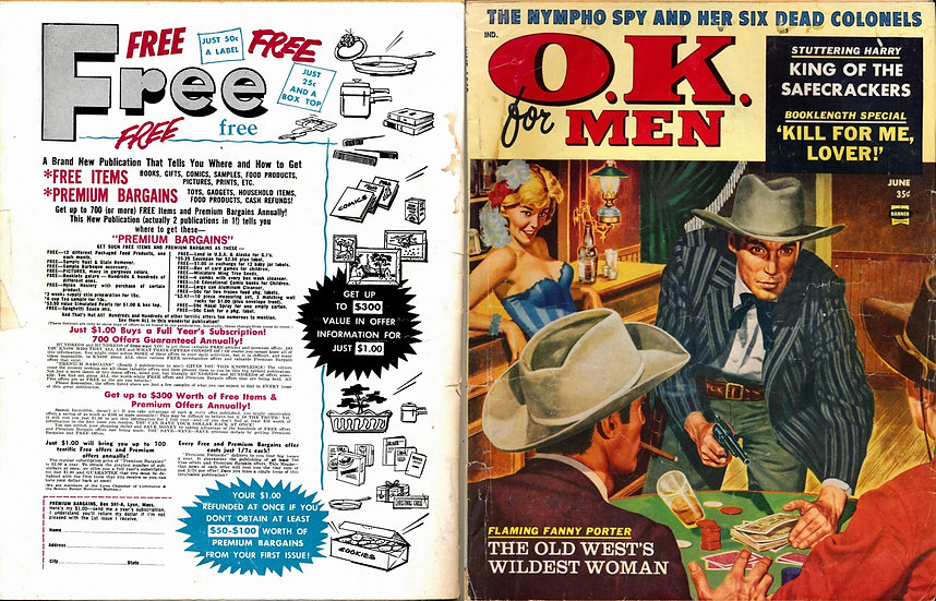 O.K. for Men [OK for Men] (Vintage adventure magazine, Jun 1959)