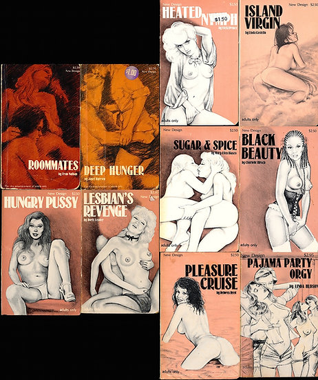 New Design (10 vintage adult paperbacks)
