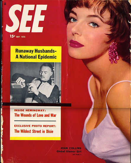 See (Vintage tabloid magazine, May 1956)